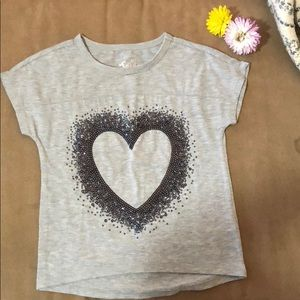 Justice gray top size 5 Girl